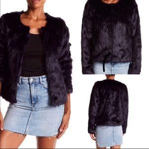 Faux fur black jacket - Ann Klein